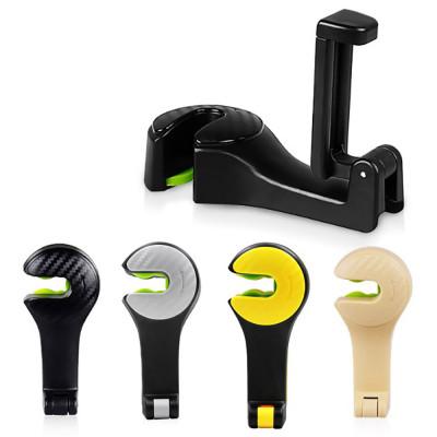 Вешалка-крючок с держателем для телефона на подголовник передних сидений автомобиля (2 в 1)