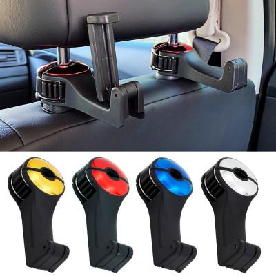 Вешалка-крючок с держателем для телефона на подголовник передних сидений автомобиля