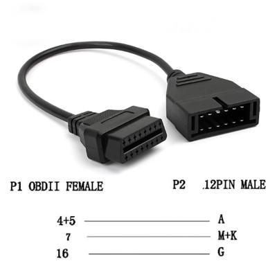 Переходник GM 12pin - OBD2 16pin