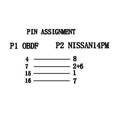 Переходник Nissan 14Pin - OBD2 16Pin
