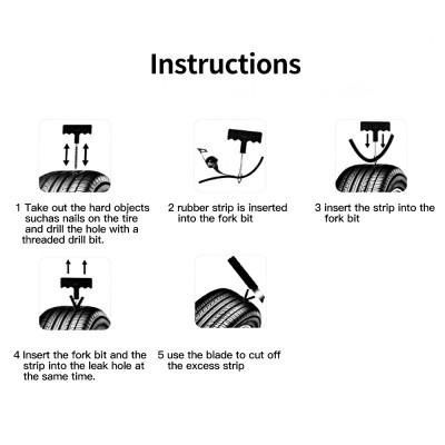 Универсальный набор для ремонта бескамерных шин