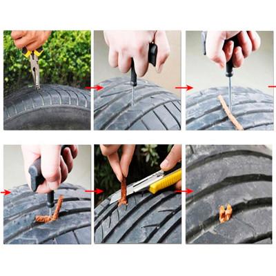 Жгуты для ремонта бескамерных шин, ремонтные полоски для шин, прокол шин, ремонт шин, резиновые полоски (5 штук / комплект)