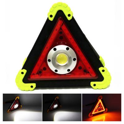 Мультифункциональный аварийный знак (COB+LED (STOP), АКБ, ЗУ microUSB, PowerBank) 30 Вт