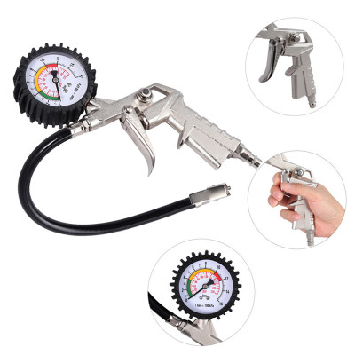 Пистолет для накачки шин с манометром 0-220PSI