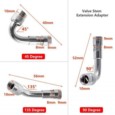 2 шт. удлинитель вентиля металлический гнутый 45/90/135 градусов