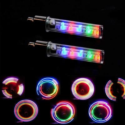 2 шт. многоцветные светодиодные колпачки на ниппель колеса, 5 светодиодов, 7 режимов