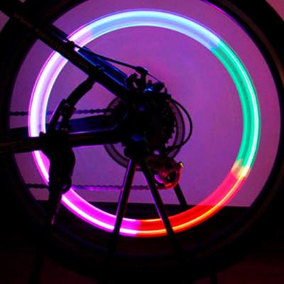 2 шт. многоцветные светодиодные колпачки на ниппель колес для мотоцикла, скутера, мопеда, велосипеда, авто