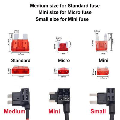 Разветвитель автомобильного предохранителя (Small, Mini, Medium)