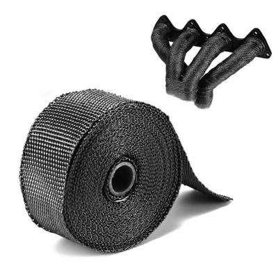 Черная термолента для выпускного коллектора (глушителя)